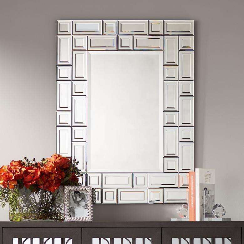 Possini Euro Solomon Beveled 27 3 4 X 37 Wall Mirror 46r53 Lamps Plus Mirror Dining Room Mirror Wall Mirror Decor