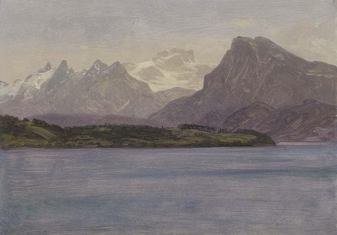 ALASKAN COAST PACIFIC ALASKA BIERSTADT INSPIRATIONAL CANVAS ART PAINTING PRINT