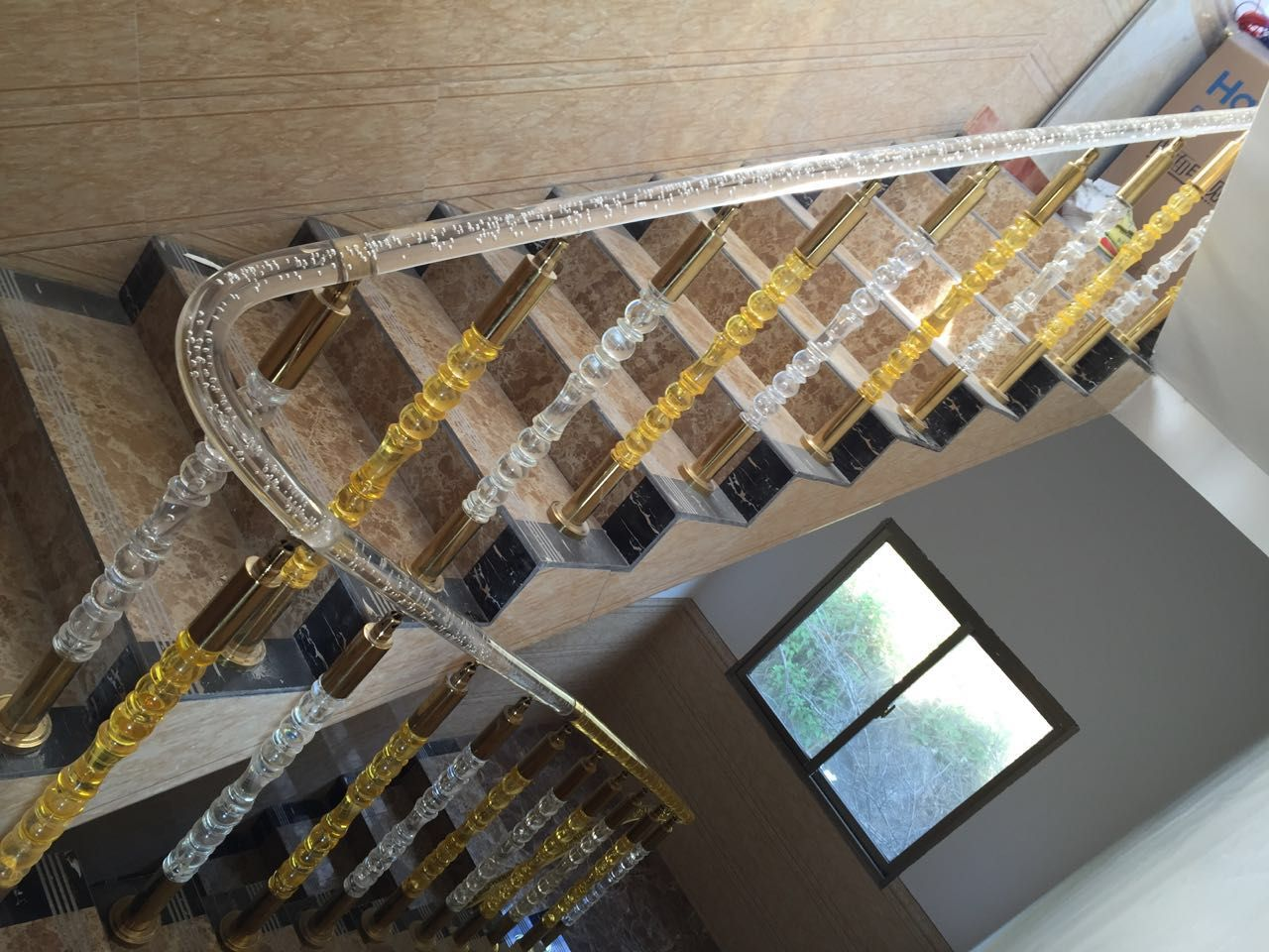 Best Acrylic Stair Railing Acrylic Baluster In 2019 Stair 400 x 300