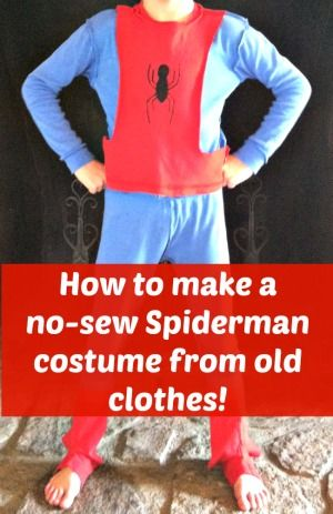 How to make a no-sew spiderman costume... so easy!!