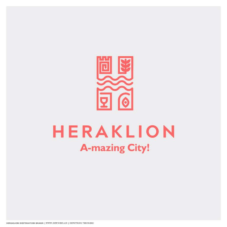 Heraklion City Tourism Branding Award is part of City branding, City logos design, Tourism logo, Branding design logo, Tourism design, Destination branding - Demetrios Tzavaras   Heraklion City Destination This proposal was awarded a merit at the Heraklion City Branding competition that was launched by the Diazoma Association and the Municipality of Heraklion City, Crete Island, Greece H for HeraklionLetter H was chosen as the most recognisable symbol of the logotype as it is the same initial letter for …