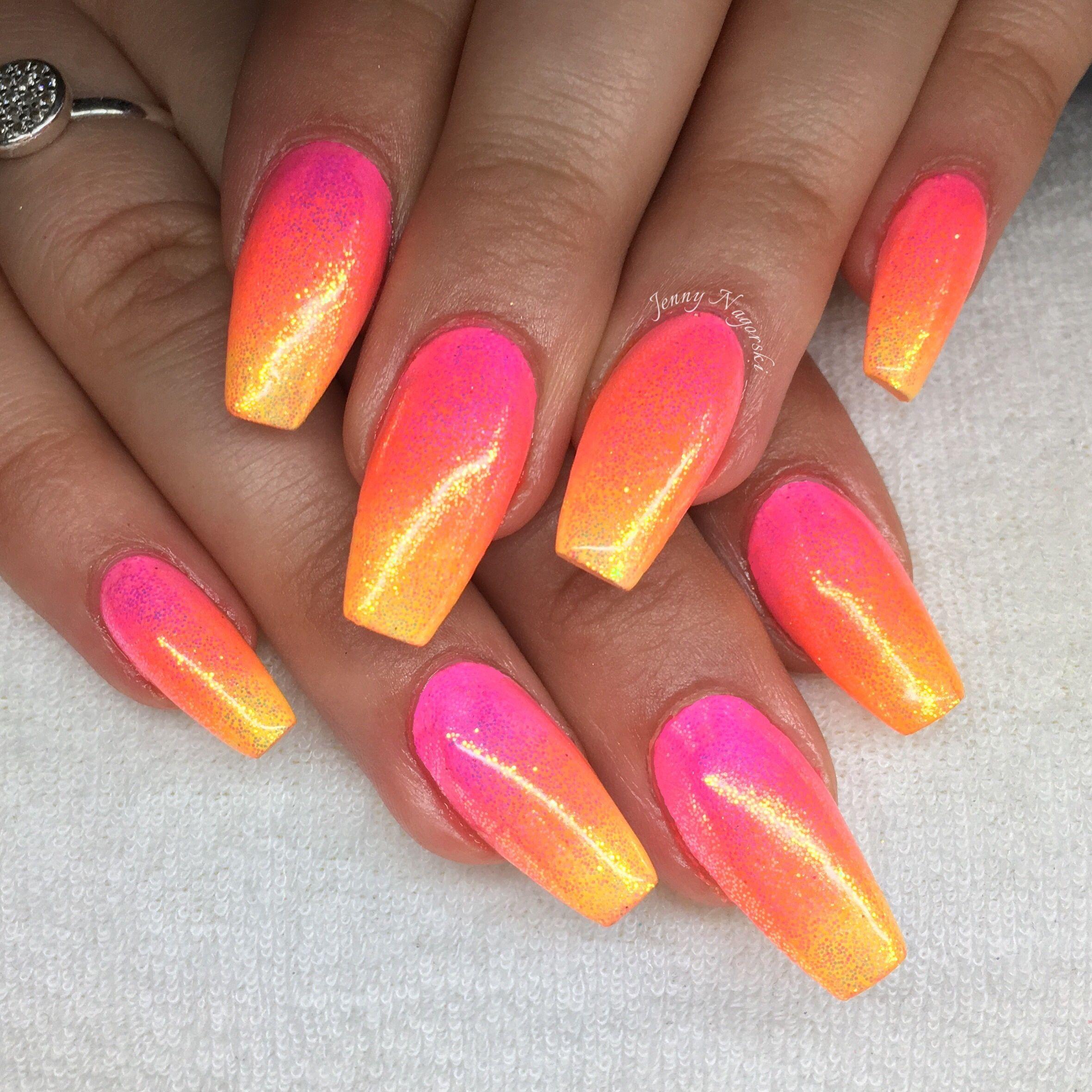 Sunset nails Sunset nails, Nail designs bling, Festival