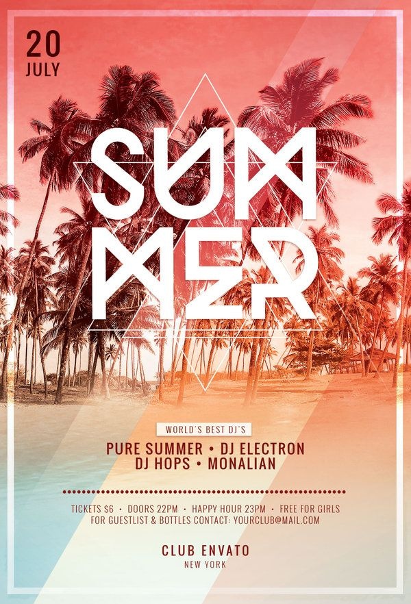 Summer Flyer Template By Stylewish Buy Psd File   DesignLife