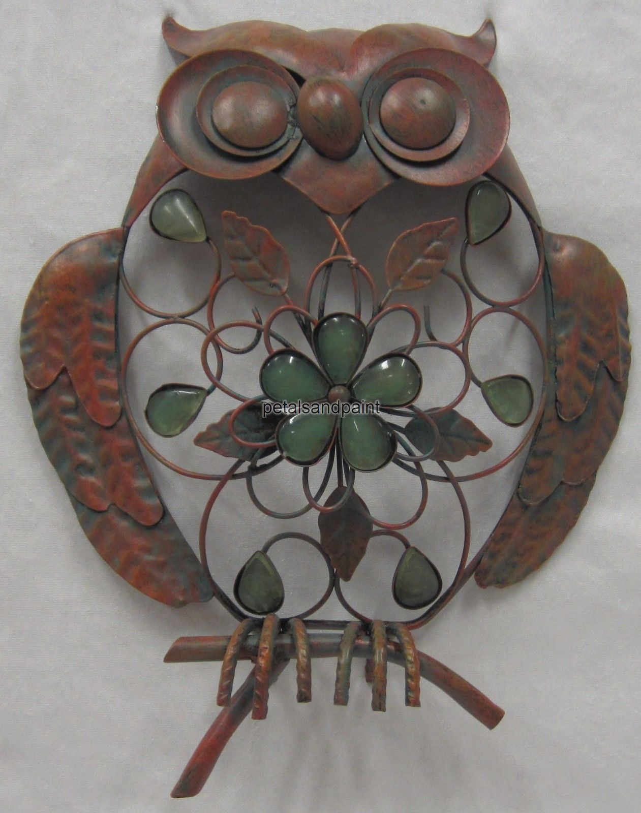 Metal Owl Wall Decor details about 32 x 26cm metal owl wall decor ornament rustic
