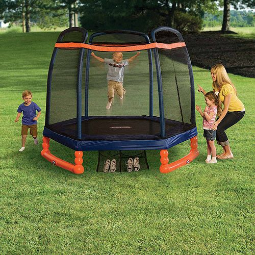 Little Tikes 7 Foot Trampoline With Enclosure Blue Orange