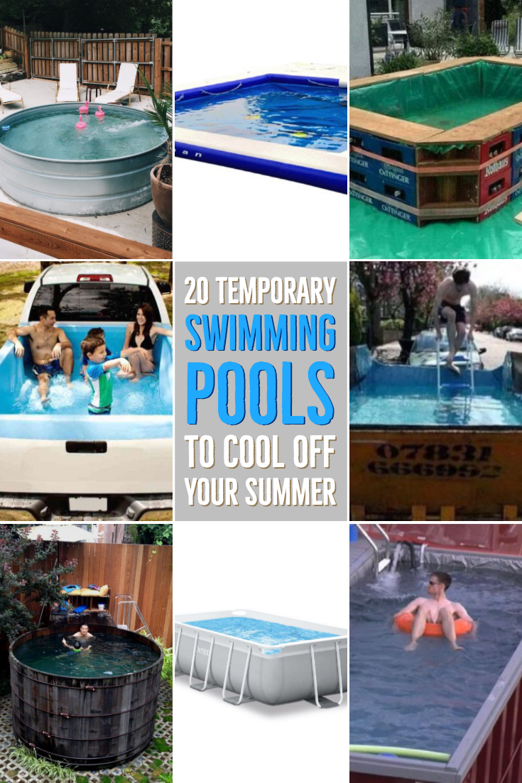 20 Temporary Swimming Pools To Cool Off Your Summer Swimming Pools Pool Summer Pool