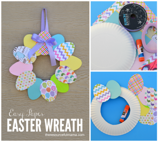 Easy Paper Easter Wreath | Easter crafts, Easter wreaths, Easter ...