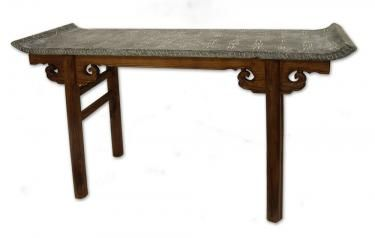 Console Table with Stone Top