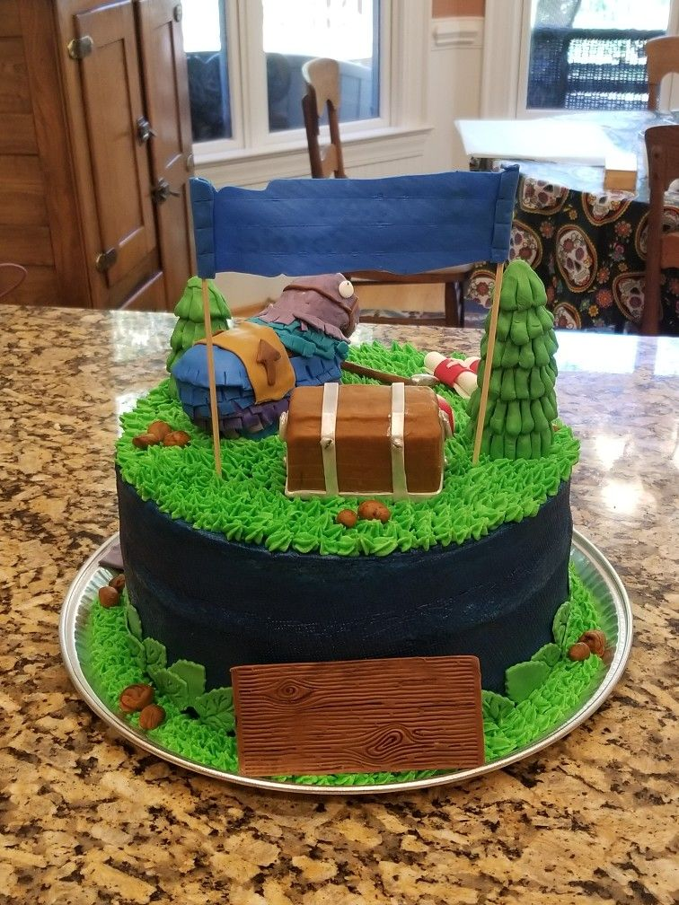 Fortnite llama cake z cakery nc cake birthday cake