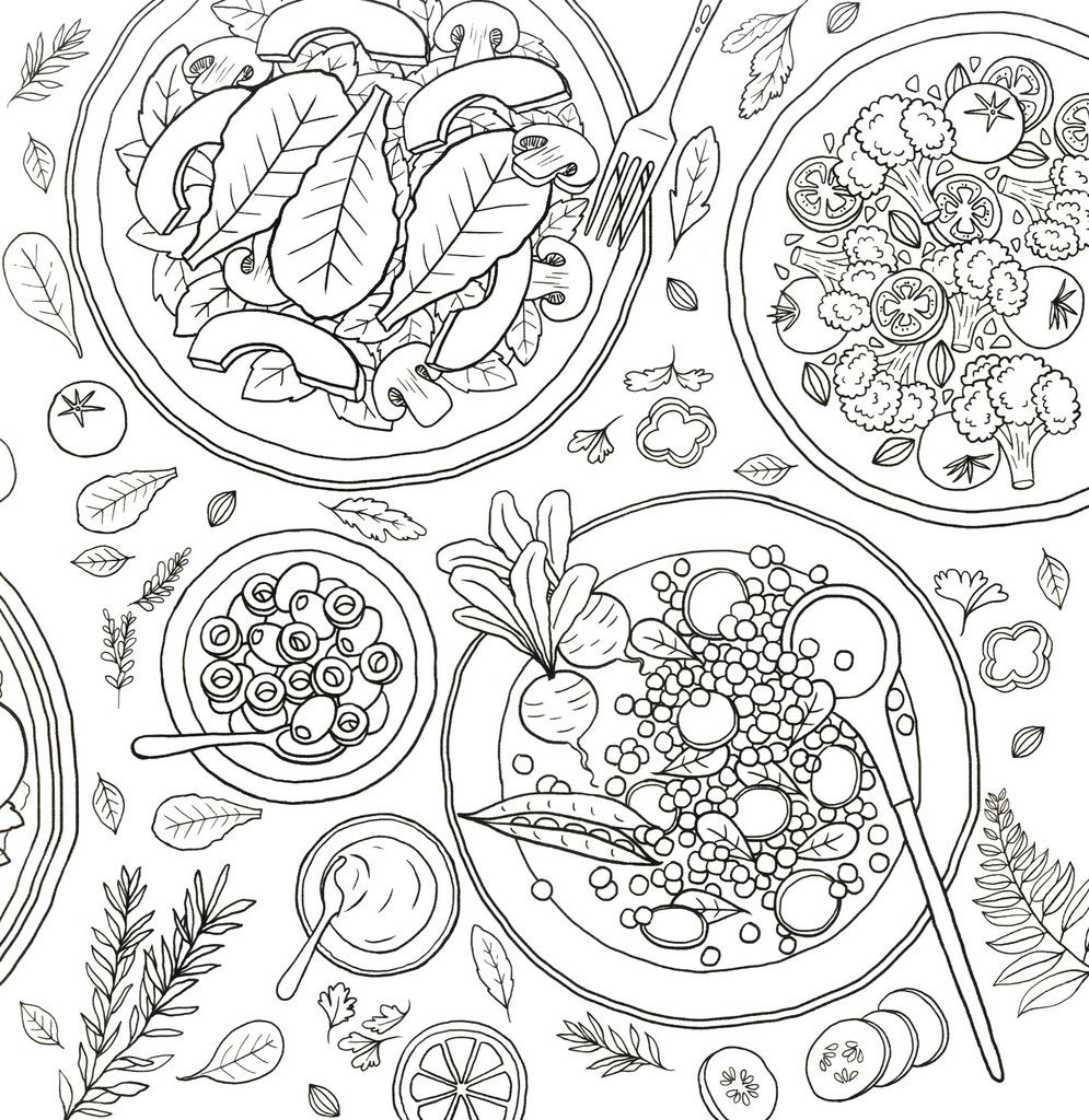 Coloring And The Food Cute Coloring Pages Mandala Coloring Pages Colorful Drawings