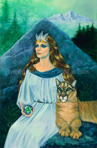 Cheryl Yambrach Rose-Hall|Neo-Mythic®/Visionary | Queen Califa (1992)