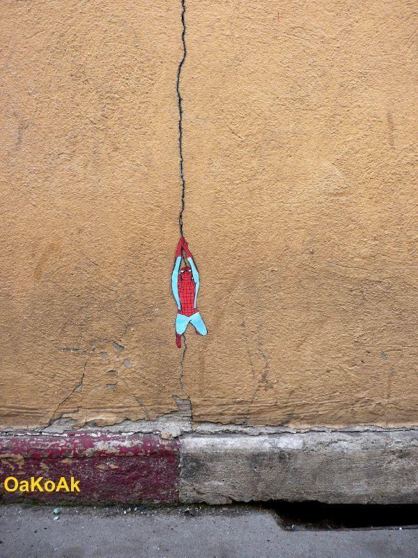 #Spiderman wall #art by #OaKoAk