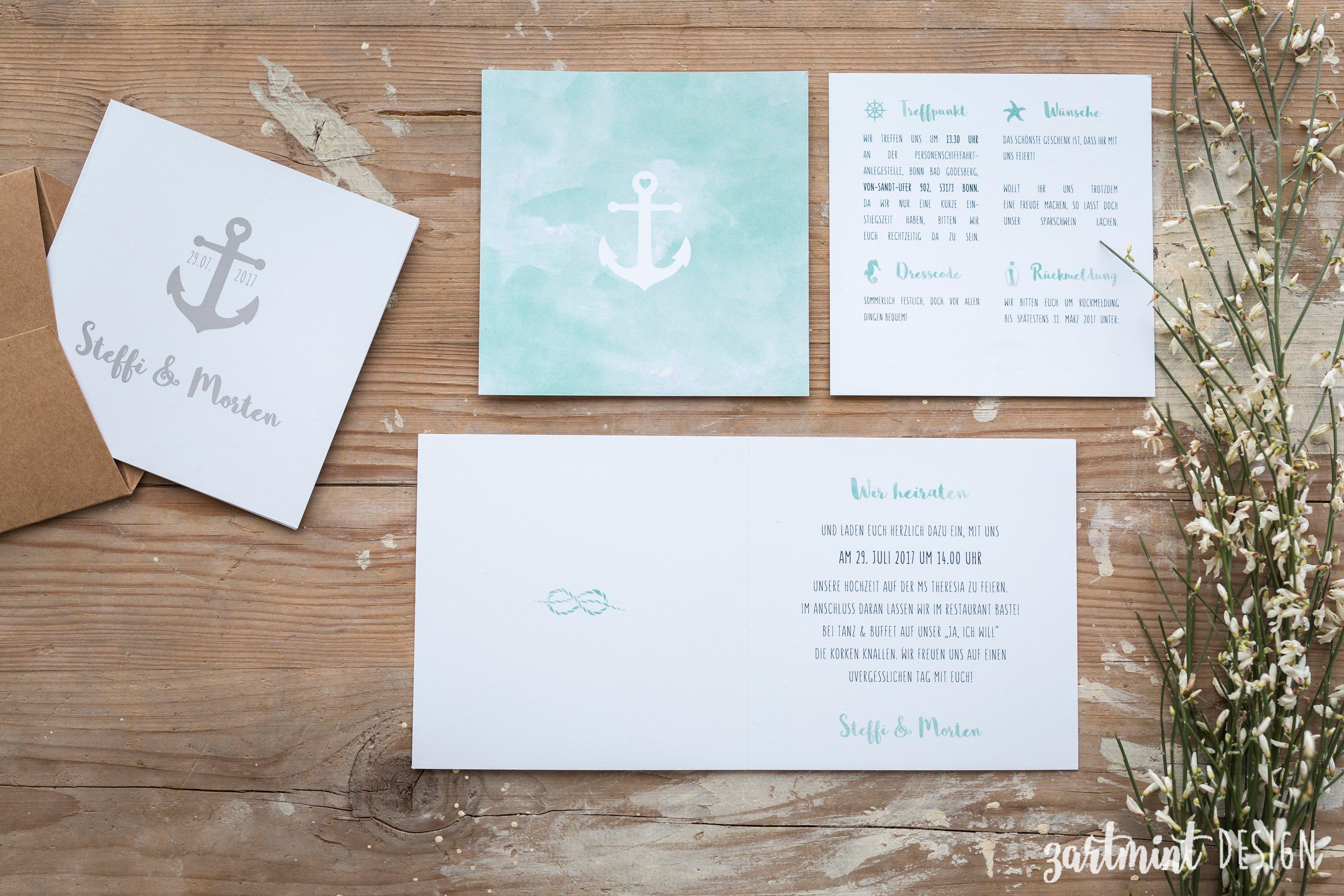 einladungskarten hochzeit maritim luxury 30 elegant