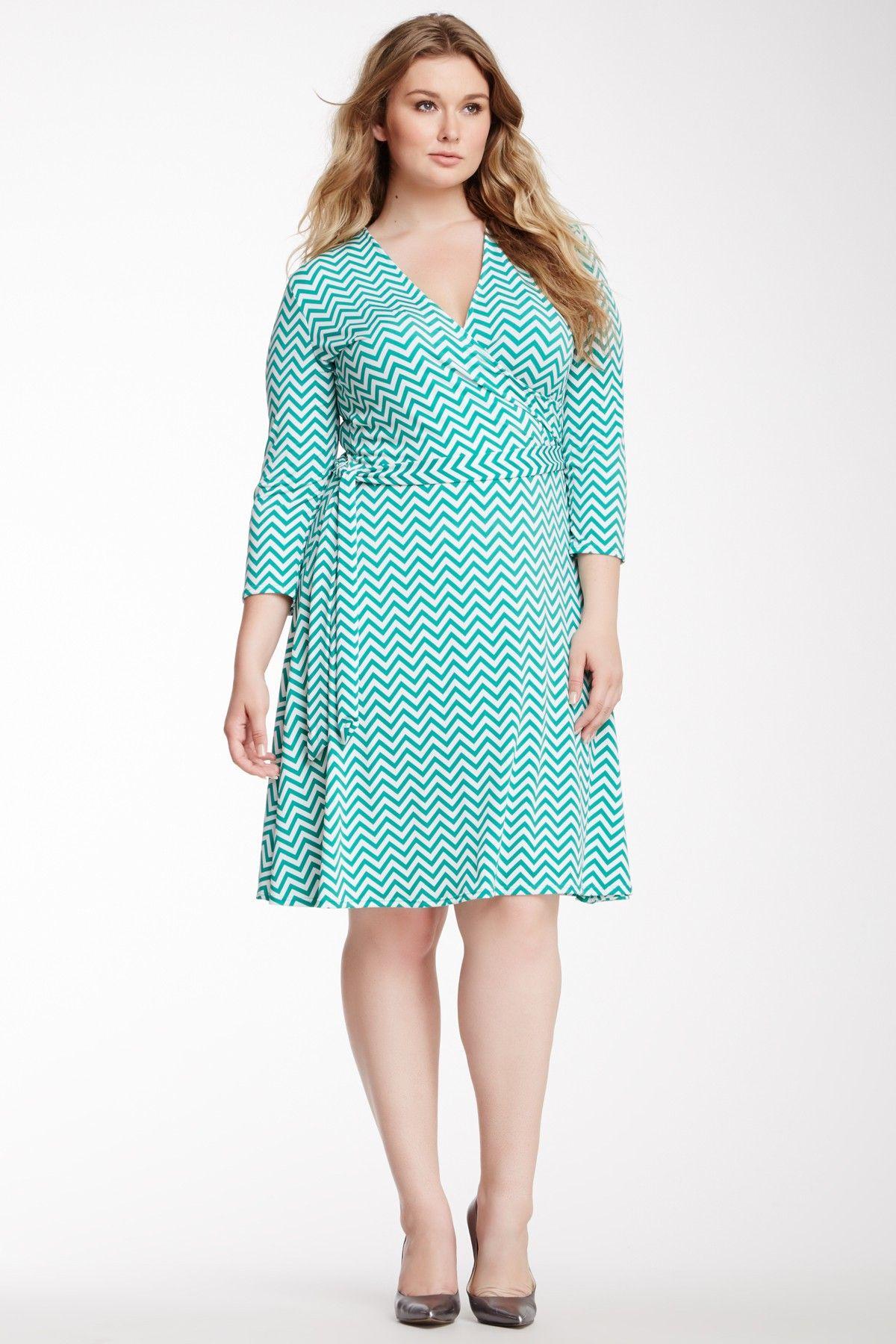Leota The Perfect Wrap Dress - Plus Size