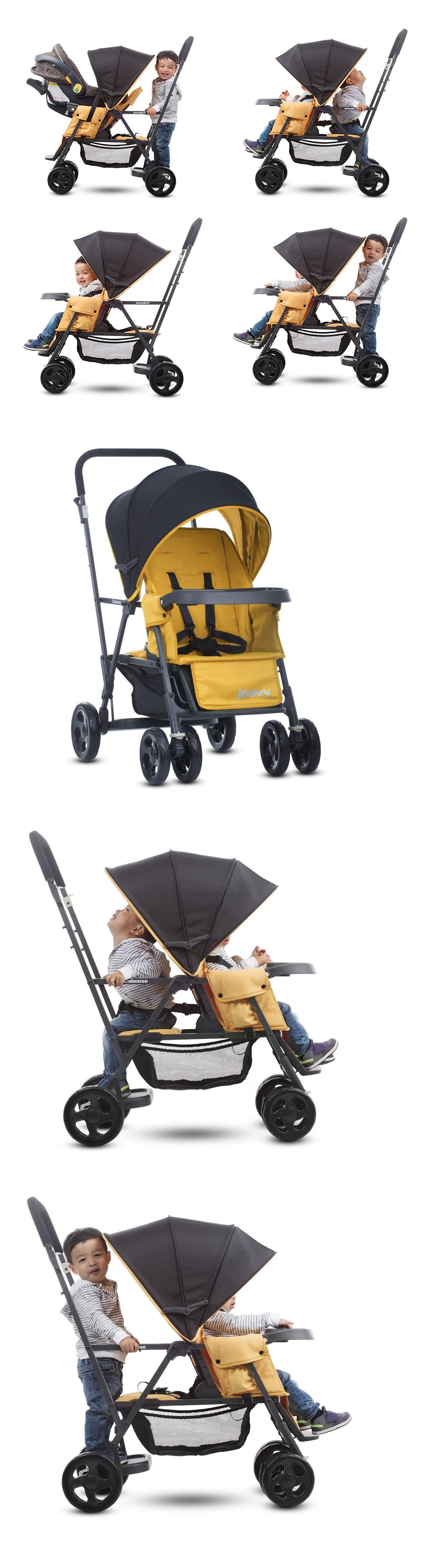 Baby Sit And Stand Stroller Infant Toddler Double Kids Tandem With Car Seat Adapter