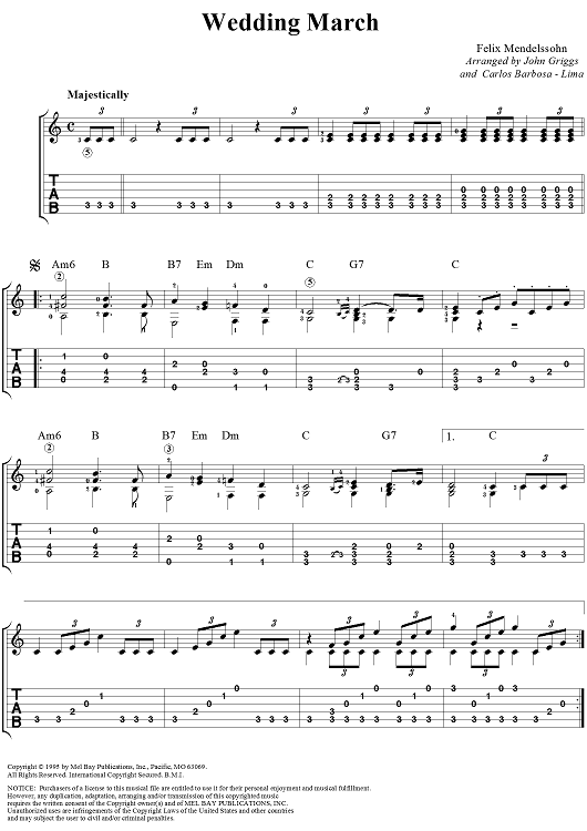 Wedding March Sheet Music Preview Page 1