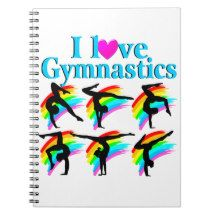 AWESOME I LOVE GYMNASTICS NOTE BOOKS http://www.zazzle.com/mysportsstar/gifts?cg=196751399353624165&rf=238246180177746410   #Gymnastics #Gymnast #WomensGymnastics #Gymnastgift #Lovegymnastics