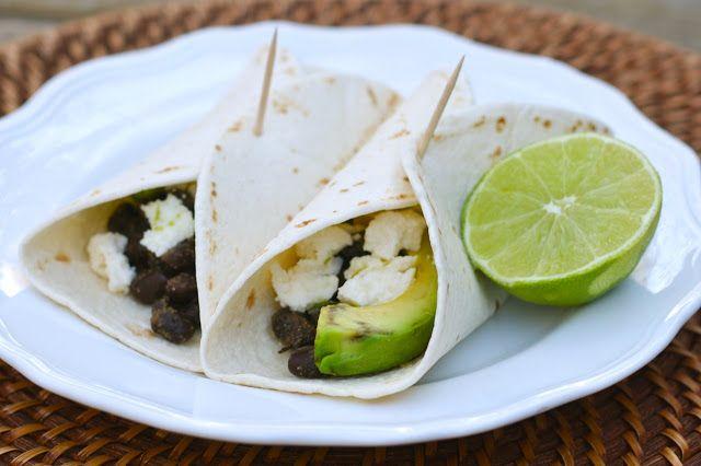 Spiced Black Bean, Avocado, and Queso Fresco Tacos