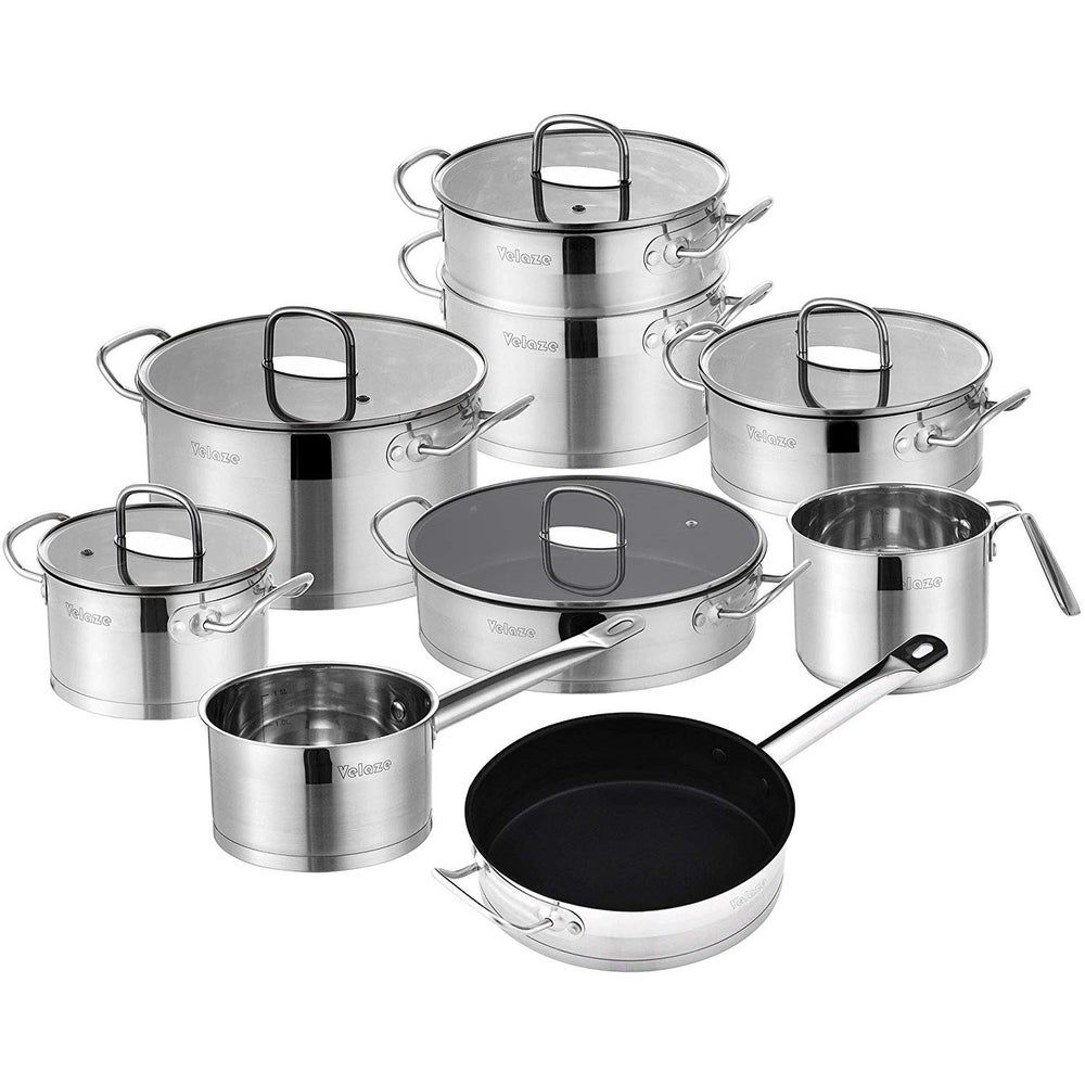 14 Lka 018lf 14pc 14pcs Cookware Set Grey Stainless Steel In