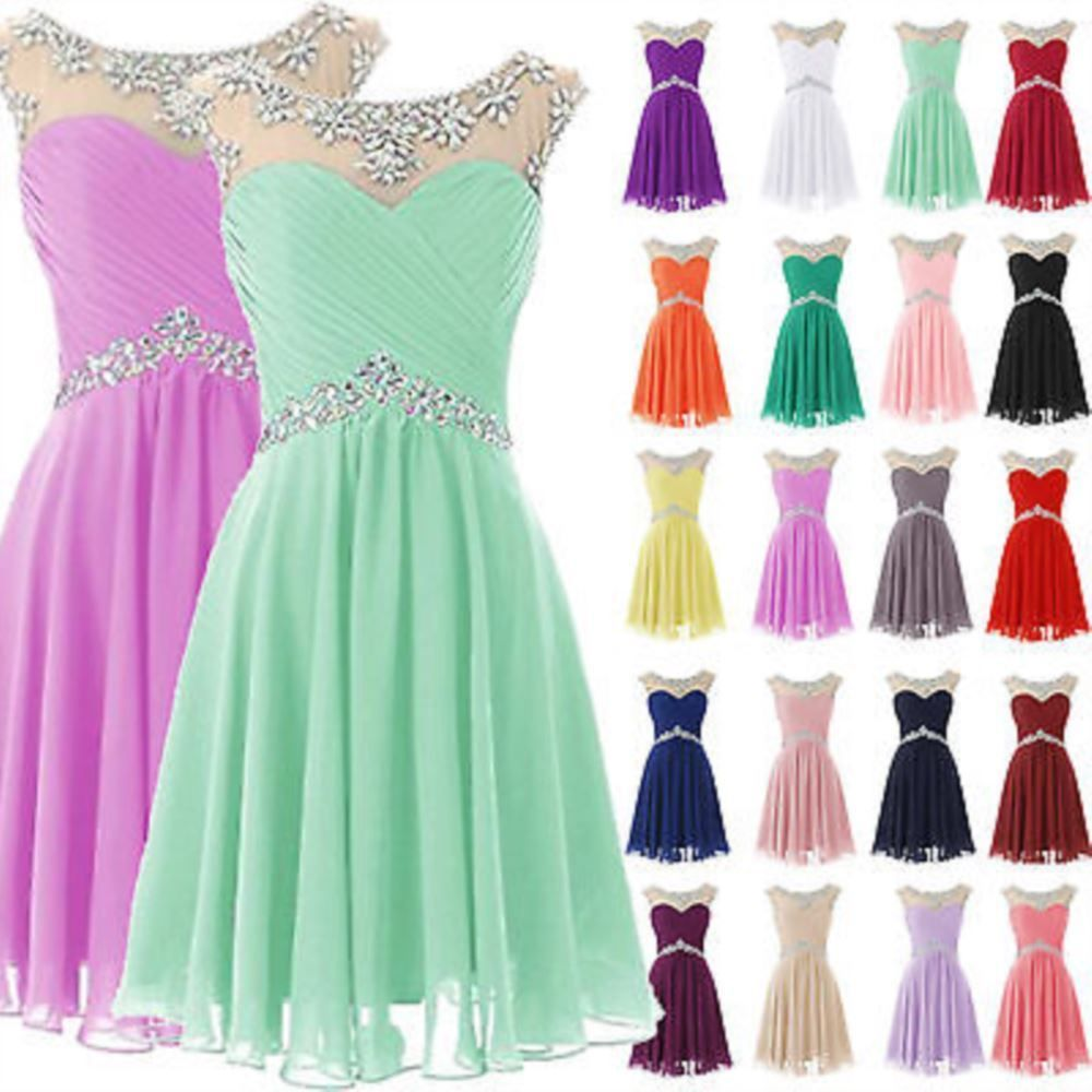 Formal Short Bridesmaid Evening Dresses Cocktail Homecoming Prom ...