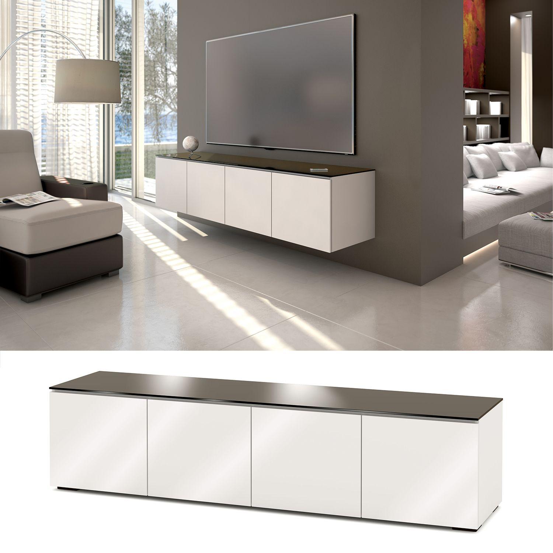 Salamander Designs Miami 247 85 Tv Cabinet In Gloss White W