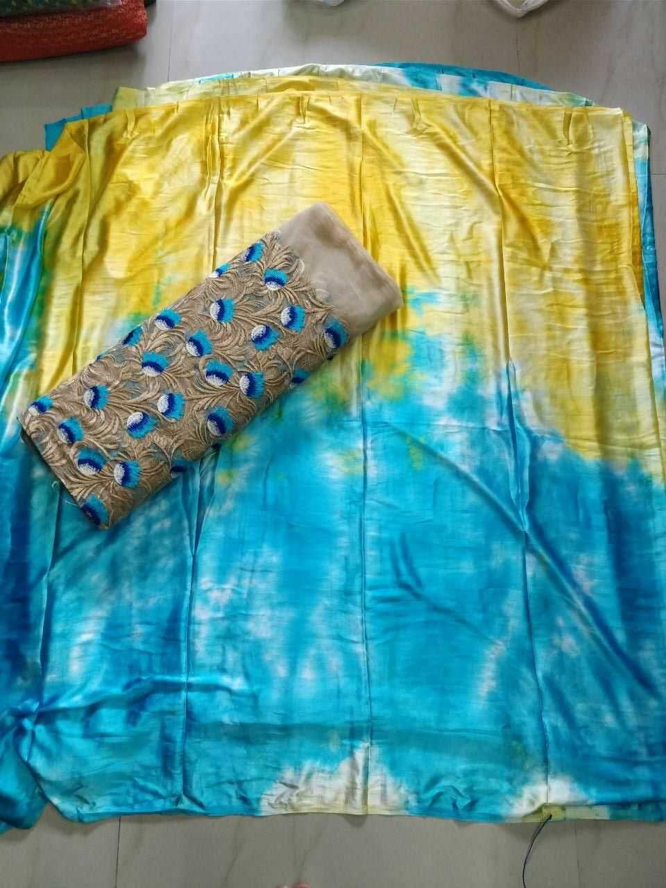 4cc60659662fe Satin Shibori Sarees WithhDesigner blouse