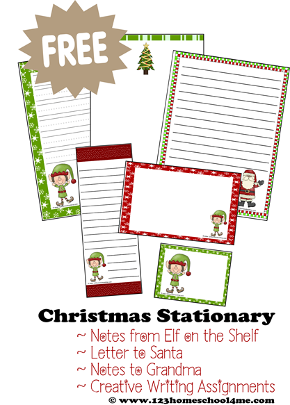 Free Christmas Stationary  This Holiday Paper Is Perfect