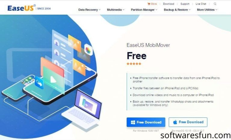 Easeus Mobimover 5 1 6 Free Download For Windows Software Windows Software Free Download