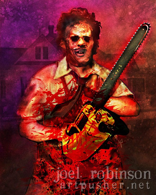 56509084a Texas Chainsaw Massacre Leatherface Print :: Joel Robinson Art Prints ::  Posters & Art :: House of Mysterious Secrets - Specializing in Horror  Merchandise & ...
