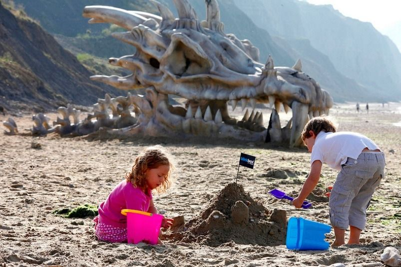How Did This Giant Dragon Skull Land on a British Beach