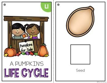 FREE Life Cycle of a Pumpkin Adapted Book { Level 1 and Level 2