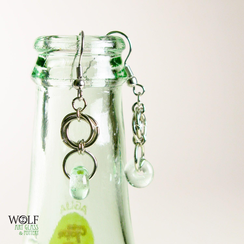 Eco Friendly Earrings Recycled Glass Bead Floret Drop Chandelier Earrings. $14.00, via Etsy.