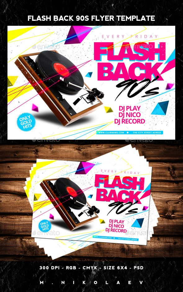Flash Back Flyer  Flyer Template Flyer Size And Party Flyer