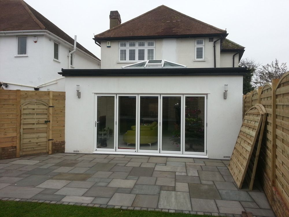 And Dining Room Extension In Sidcup With Bifold Doors Roof Lantern
