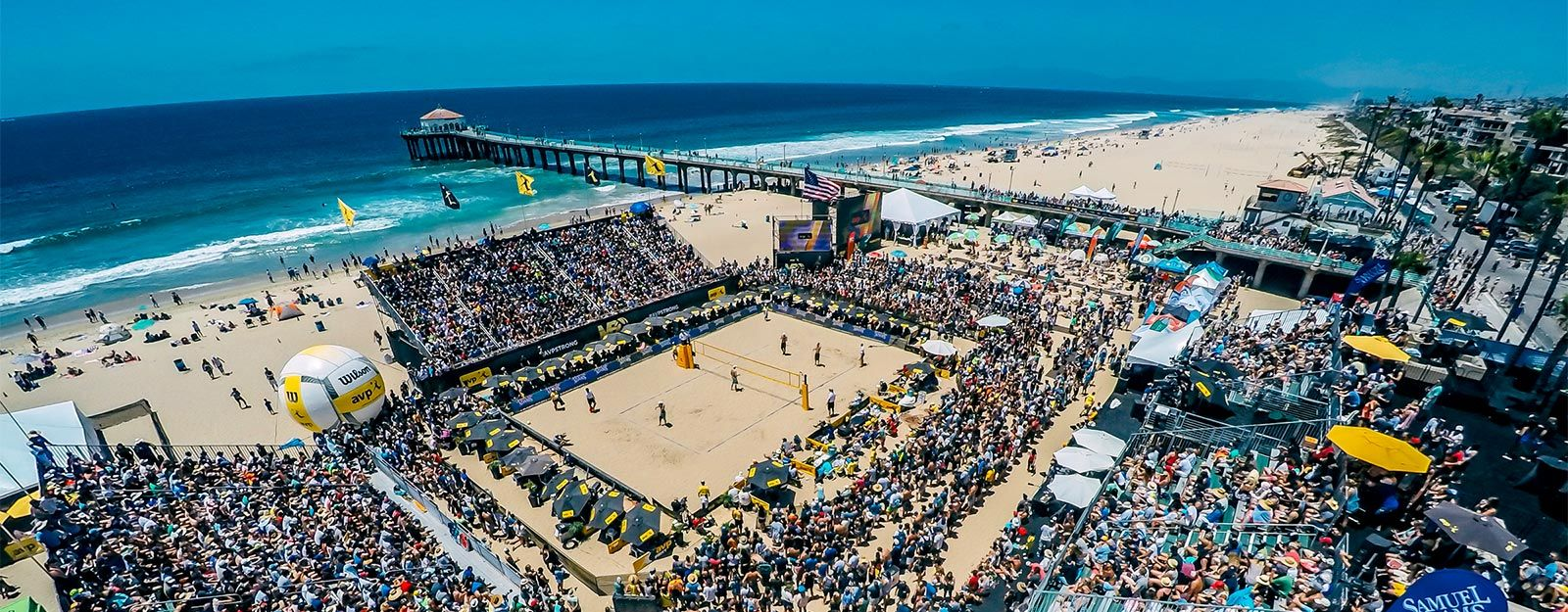 The Manhattan Beach Open Happens Every Year And Every Year Four Athletes Get To Place Their Name In History The Manhattan Beach Pier Beach Manhattan Beach