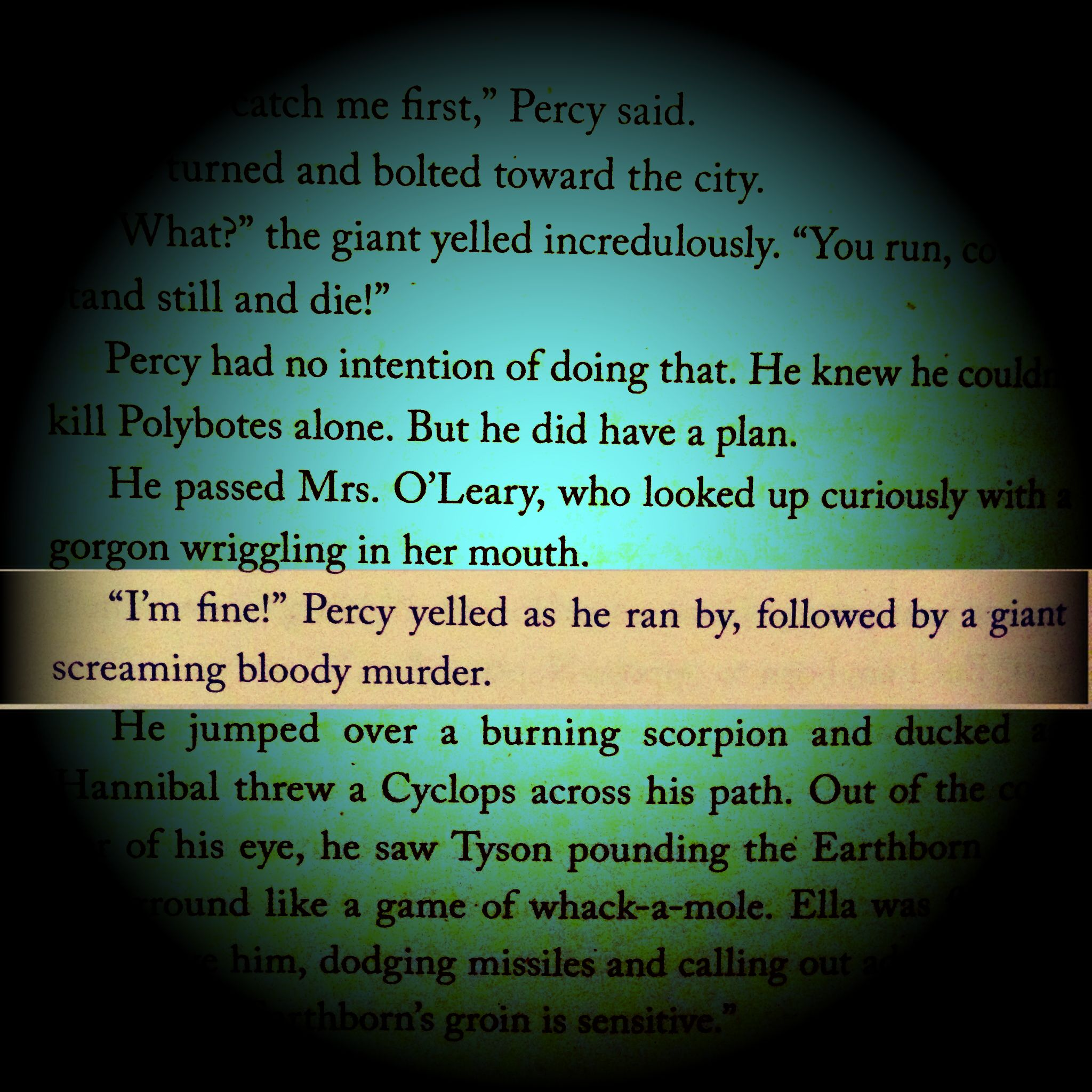 Percy Jackson, ladies and gentlemen, Percy Jackson. (This literally explains every battle he is in)