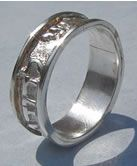 I Am My Beloved's Beautiful Sterling Silver Wedding Ring