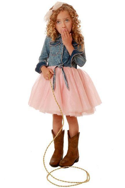 d97784ea096e Ooh! La, La! Couture - Pink Tutu Denim Shirt Dress | Products ...