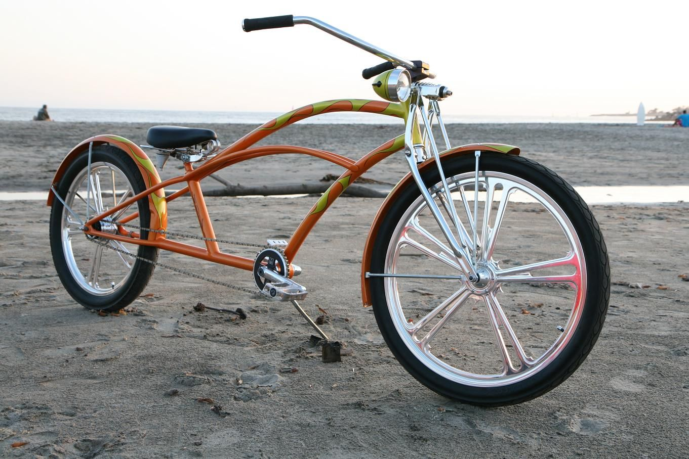 Stretched beach cruiser after a long day at the sea otter classic we stopped
