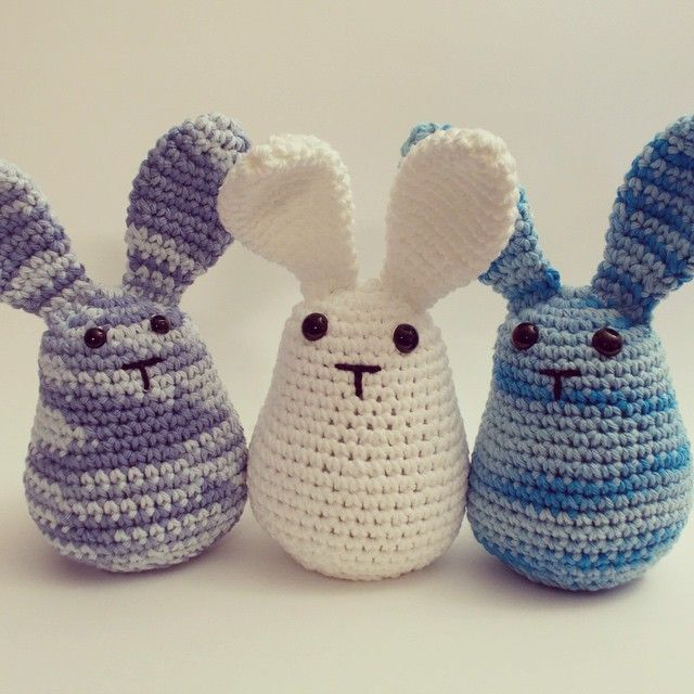 bunnies | amigurumis | Pinterest | Sujetapuertas, Ganchillo y Puntadas