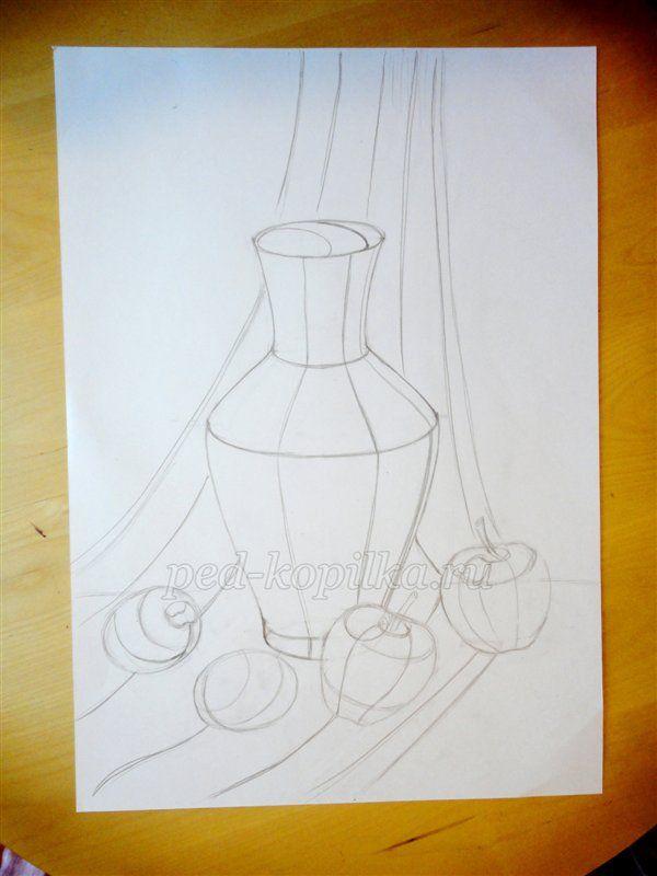 Конспект урока по изо в начальной школе натюрморт