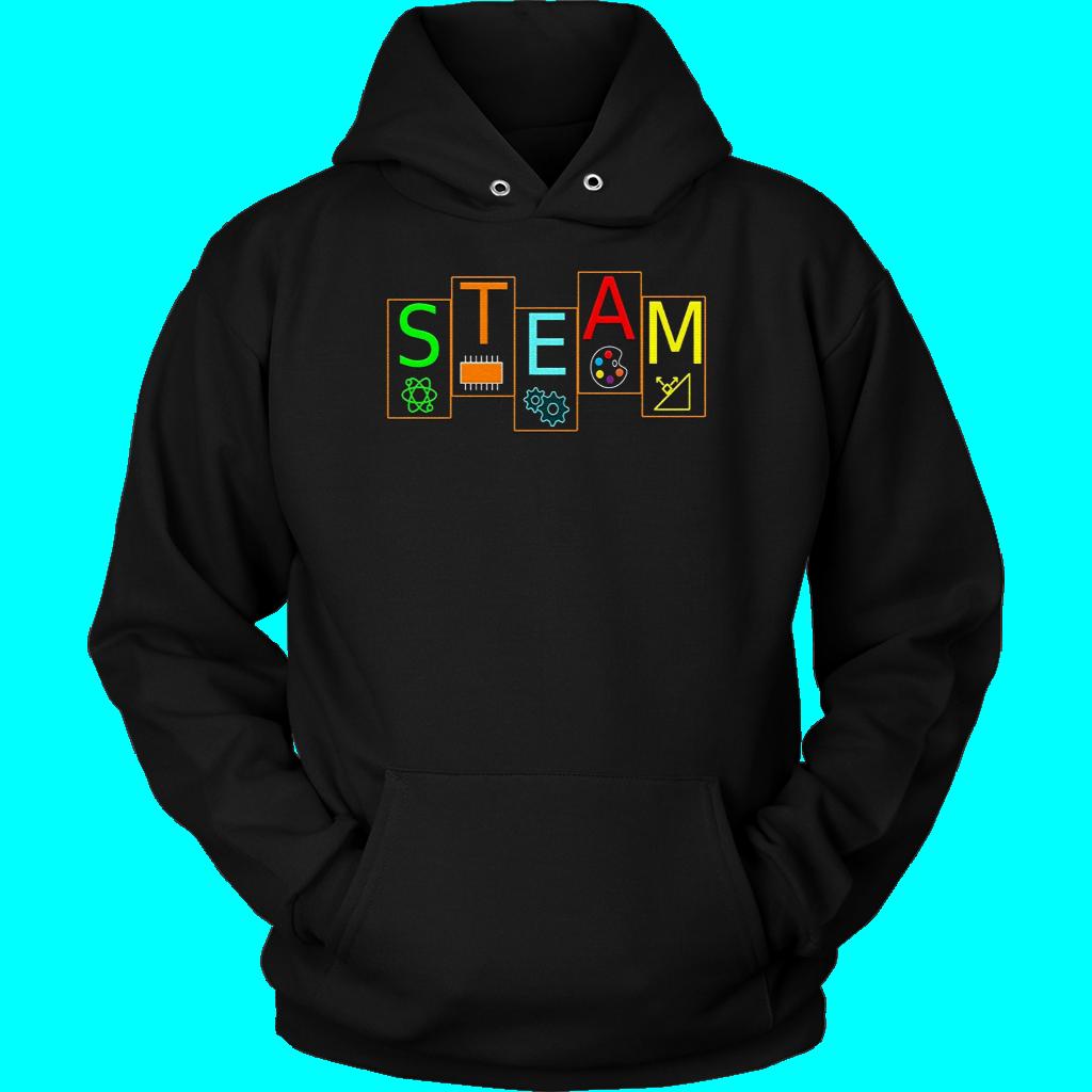 Steam Symbols T-shirt Stem Science Engineering Art Math