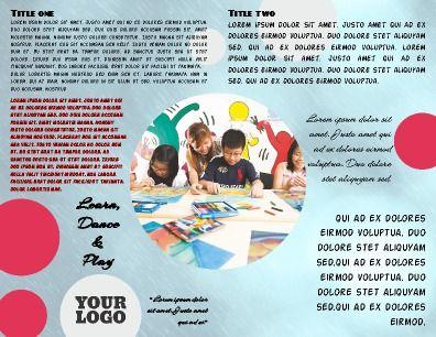 Inside, half-fold, Children\u0027s Program Brochure Perfect for any - half fold brochure template