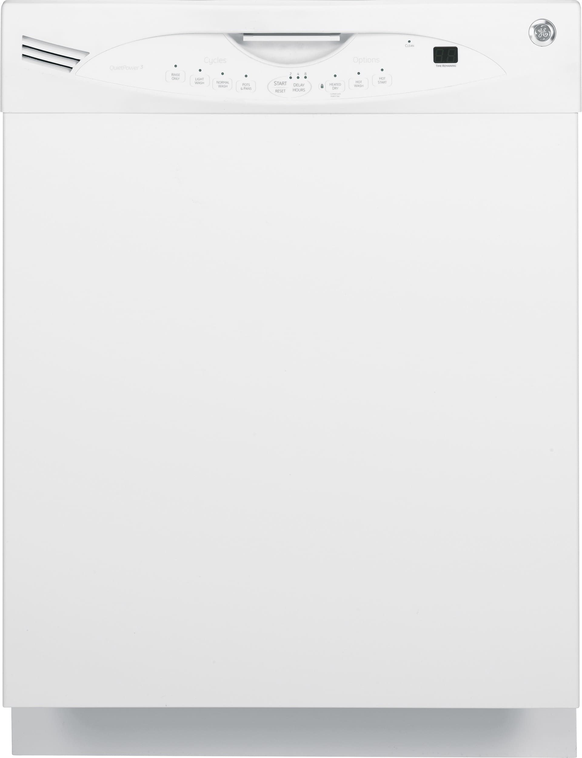 Ge Glda690fww Full Console Dishwasher With Stainless Steel Interior Quietpower Motor Delay Start 5 Level Wash System Dishwasher White Touchpads Dishwasher