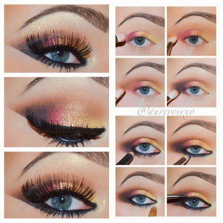 Sunset Smokey Eye Tutorial Blue Eye Makeup Tutorial Blue Eye Makeup Eye Makeup Tutorial
