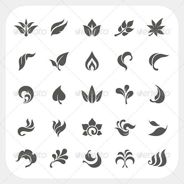 Leaf Icons Set  #graphicriver