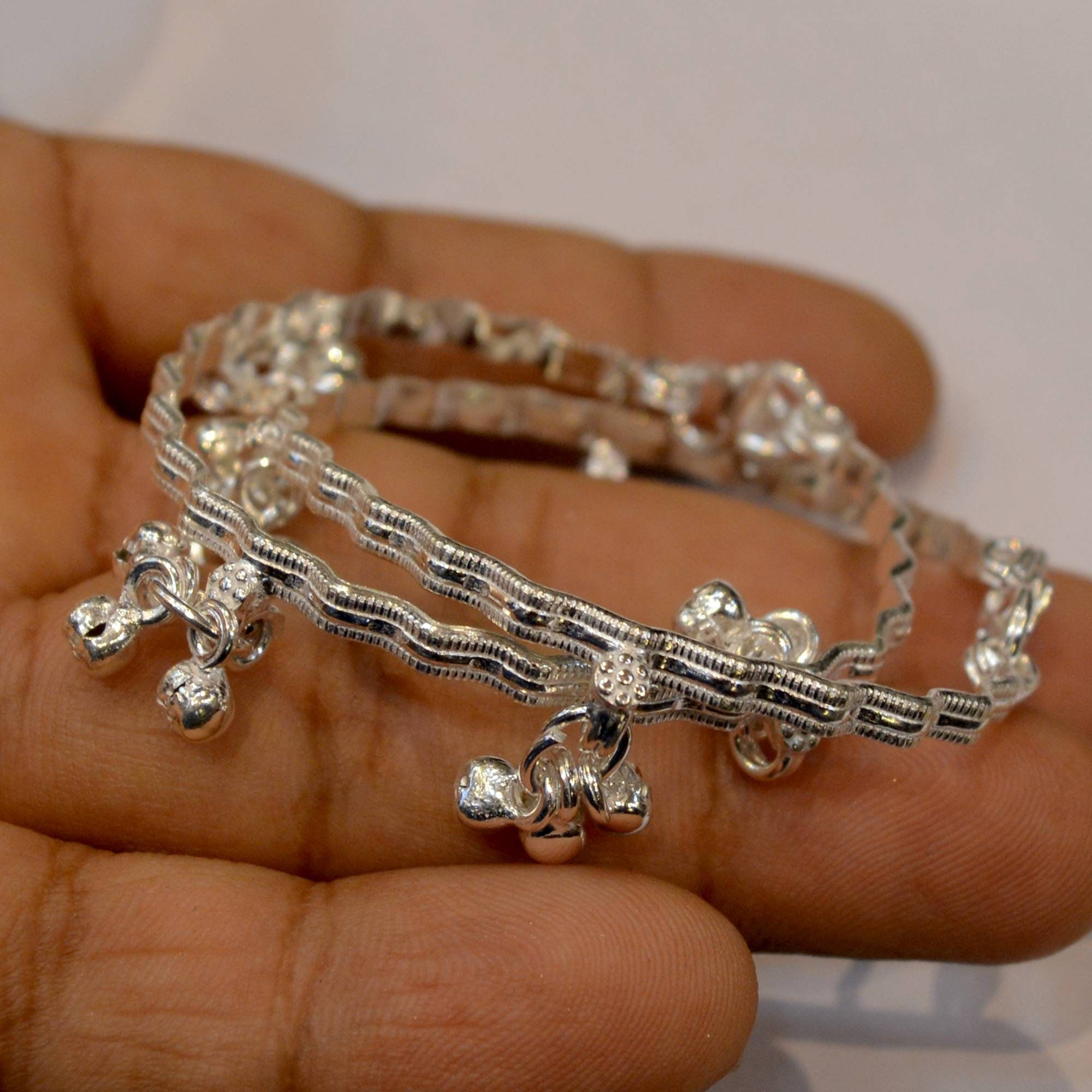 Desinger Ethnic Style Handmade Jewellery  925 Sterling Silver Chain  Necklace 22