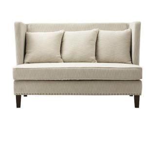 Home Decorators Collection Garrins Herringbone Cream Velvet Settee-1600800400 at The Home Depot