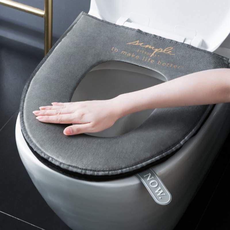 Details About Washable Soft Toilet Seat Cover Bathroom Warm Plush Toilet Seat Cushion Pads Us Toilet Seat Cover Toilet Seat Toilet Mat