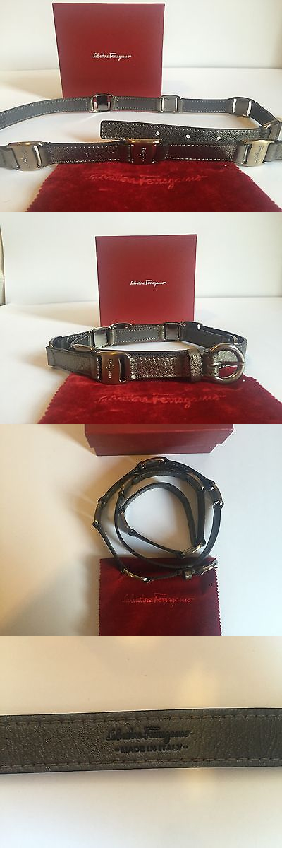 a66a0ab76f4 Belts 3003  Salvatore Ferragamo Women S Belt Bronze Brown Gold Logo Buckle  Leather 90 Us